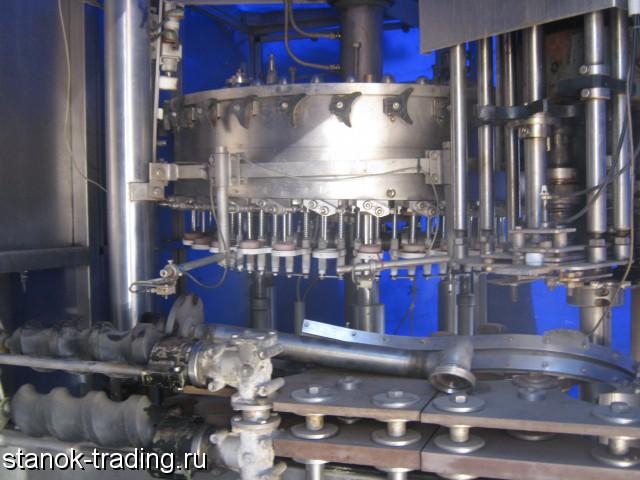 Автоматическая линия розлива воды в стеклянную бутылку